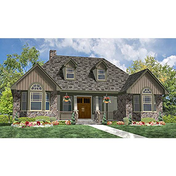 TheHouseDesigners-8338 Cottage House Plan with Slab Foundation (5 Printed Sets)
