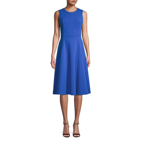 Calvin Klein Pleated Dress (Pleated Fit-&-Flare Dress)