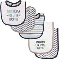 Newbeau Baby Burp Cloth Sets Organic Cotton 4 Layers Baby Saliva Towel Baby Bibs 4 PCS