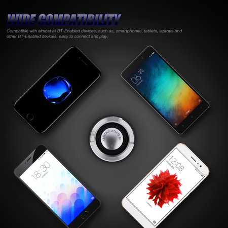 Mini Size Portable BT Wireless Speaker Built-in Mic Loudspeaker Subwoofer Heavy Bass Music Players Sound Box Hands-free Calls Powerful Sound for //Andriod//Laptops/Tablets - image 5 of 7