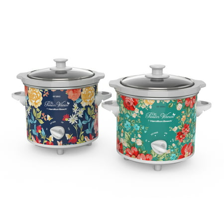 The Pioneer Woman 1.5 Quart Slow Cooker (Set of 2) Fiona Floral/Vintage Floral | Model# 33016 by Hamilton Beach (Small Slow Cooker)