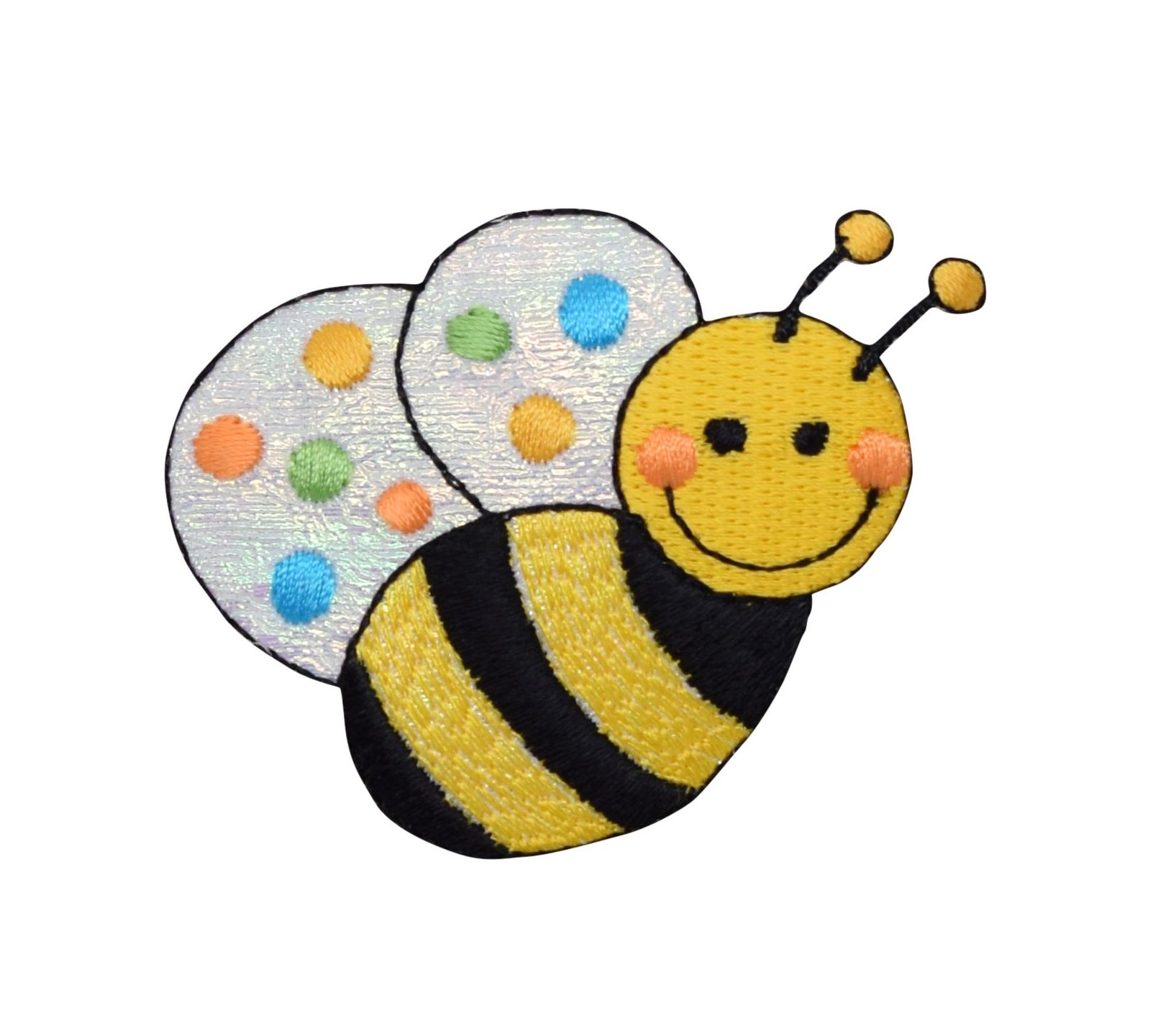Embroidered Iron-On Applique Bumble Bee 3//4 inch