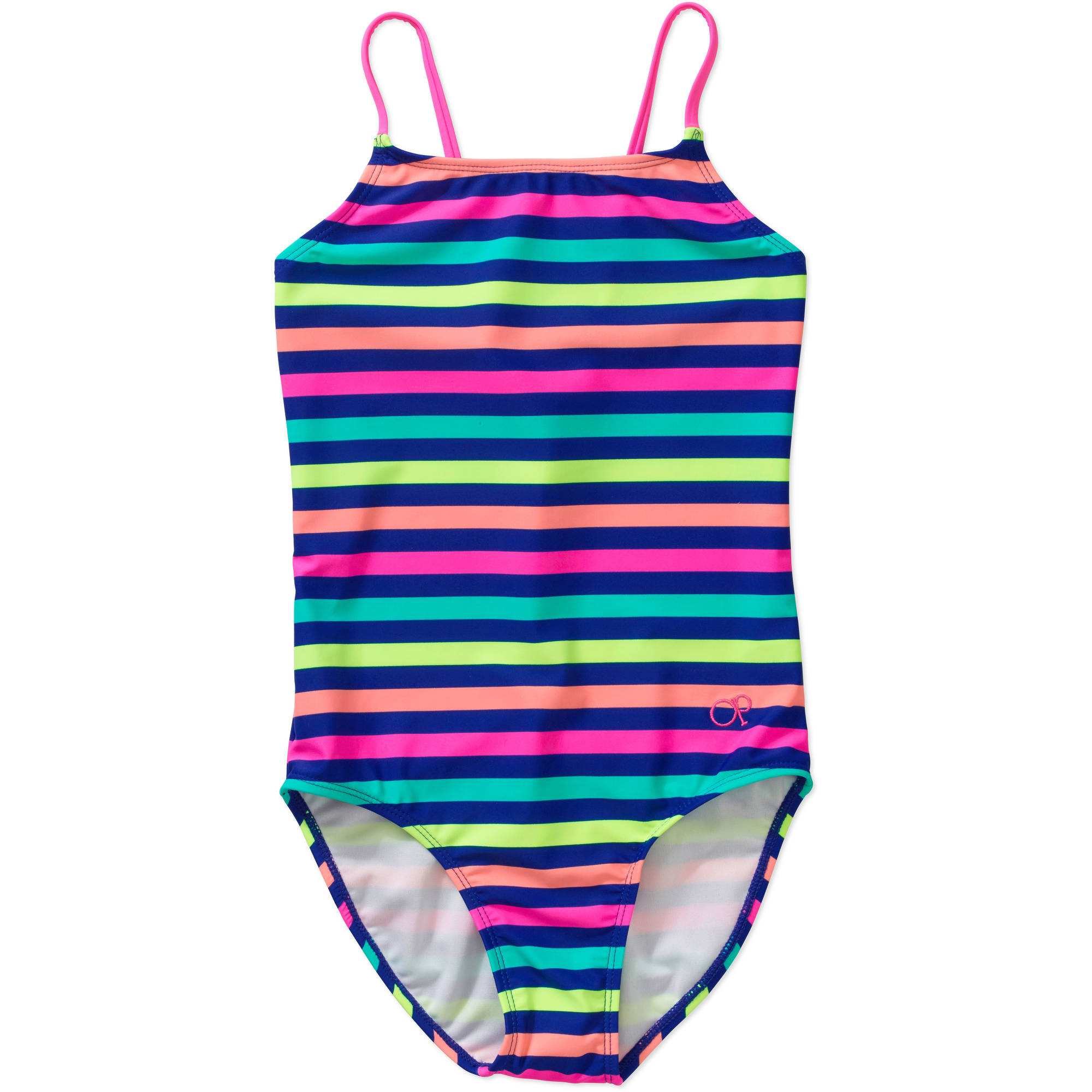 OP Girls' Wild Stripe One Piece Swimsuit