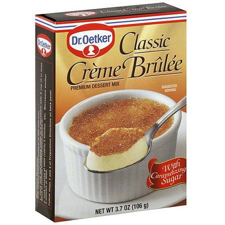 Dr. Oetker Classic Creme Brulee Dessert Mix, 3.7 oz (Pack of 12) (Creme Brule Dessert)
