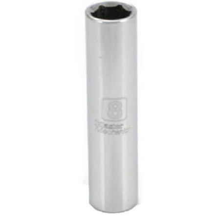 0.25 in. Drive Master Mechanic 8 mm Deep Well Socket