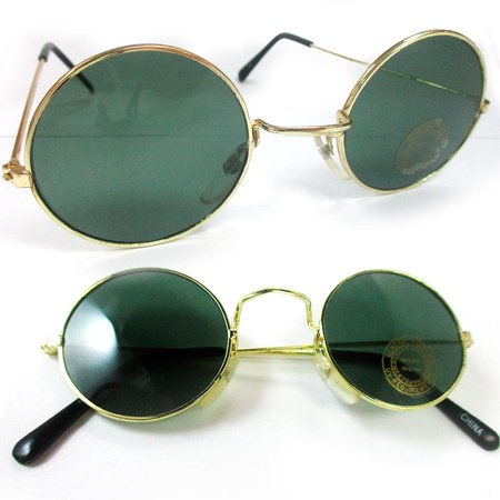 dcbb4517baaf ZHRZ KZXRURX - John Lennon Sunglasses Round Shades Wire Frame Colored  Lenses Metal Retro Hippie - Walmart.com