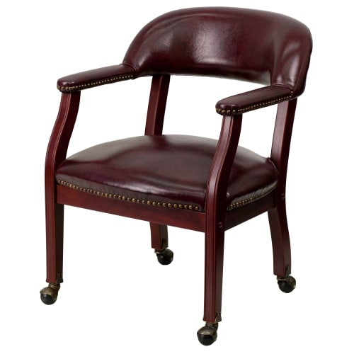 Flash Furniture Luxurious Conference Chair, Oxblood