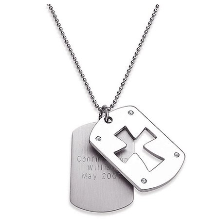 personalized stainless steel and cz dog tags walmart com