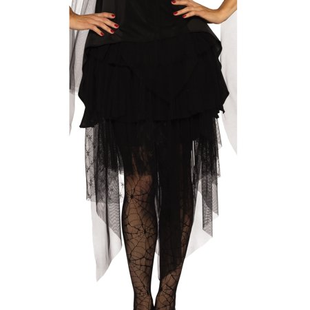 Sheer Ruffle Adult Women Black Gothic Ballet Witch Costume Skirt-One Size (Gothic Womens Costumes)