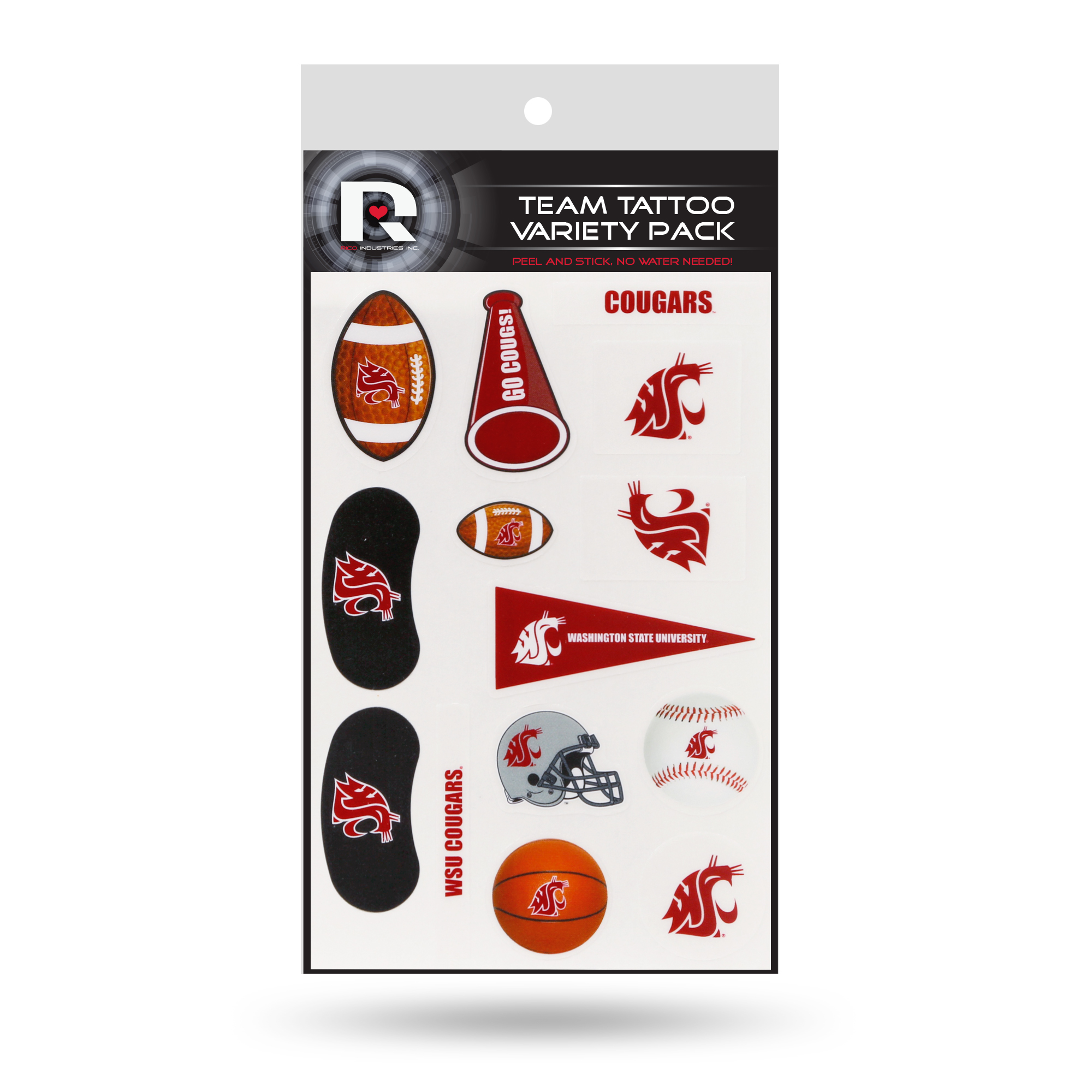 Washington State Cougars Tattoo Variety Pack