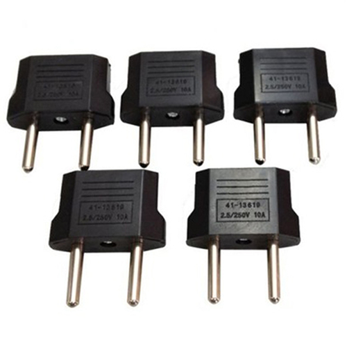 5 Pcs Universal USA AUS AU to EU European Power Plug Travel Adapter Converter