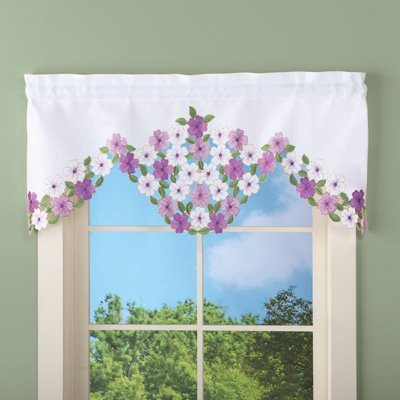 Elegant Wildflowers Floral Window Valance Curtain - Wildflower Toronto Halloween