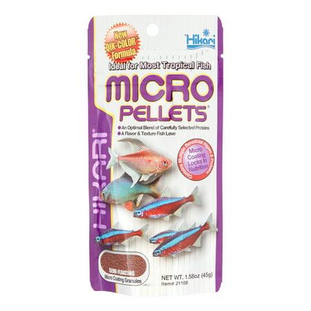 Hikari Micro Pellets Semi-Floating Pellets Freshwater Tropical Fish Food, 1.58 Oz