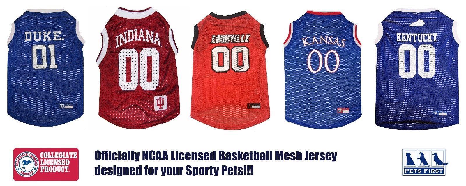 d536f2f231df Pets First Collegiate Indiana Hoosiers Basketball Mesh Jersey - Licensed