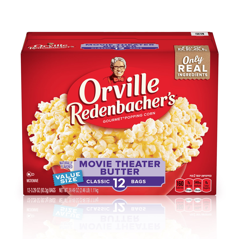 Orville Redenbacher S Movie Theater Butter Microwave Popcorn 12 Ct 3 29 Oz Bags Walmart Com Walmart Com