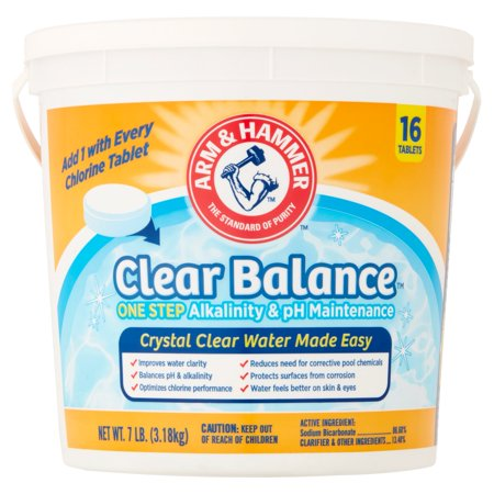 Arm   Hammer Clear Balance One Step Alkalinity   Ph Maintenance Tablets  16 Count  7 Lb