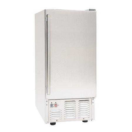 "Maxximum Maxx Ice 15"" 50-Lb. Freestanding Outdoor Icemaker Stainless Steel MIM50-O"