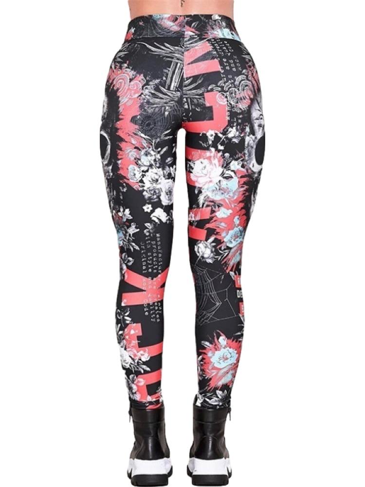 Skeleton Mermaid Leggings Printed leggings Yoga Leggings yoga pants