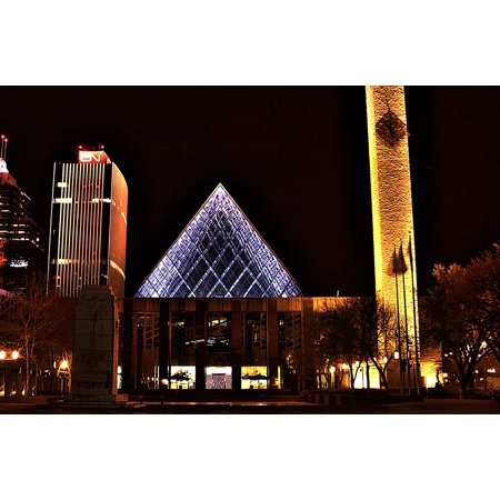 Party City Hours Edmonton (Canvas Print Lights Alberta Canada Buildings City Hall Edmonton Stretched Canvas 10 x)
