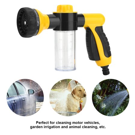 Car Wash Gun Hilitand High Pressure Spray Car Wash Foam Water Gun Cleaning Tool Washer 6m Car Water Gun(Yellow,