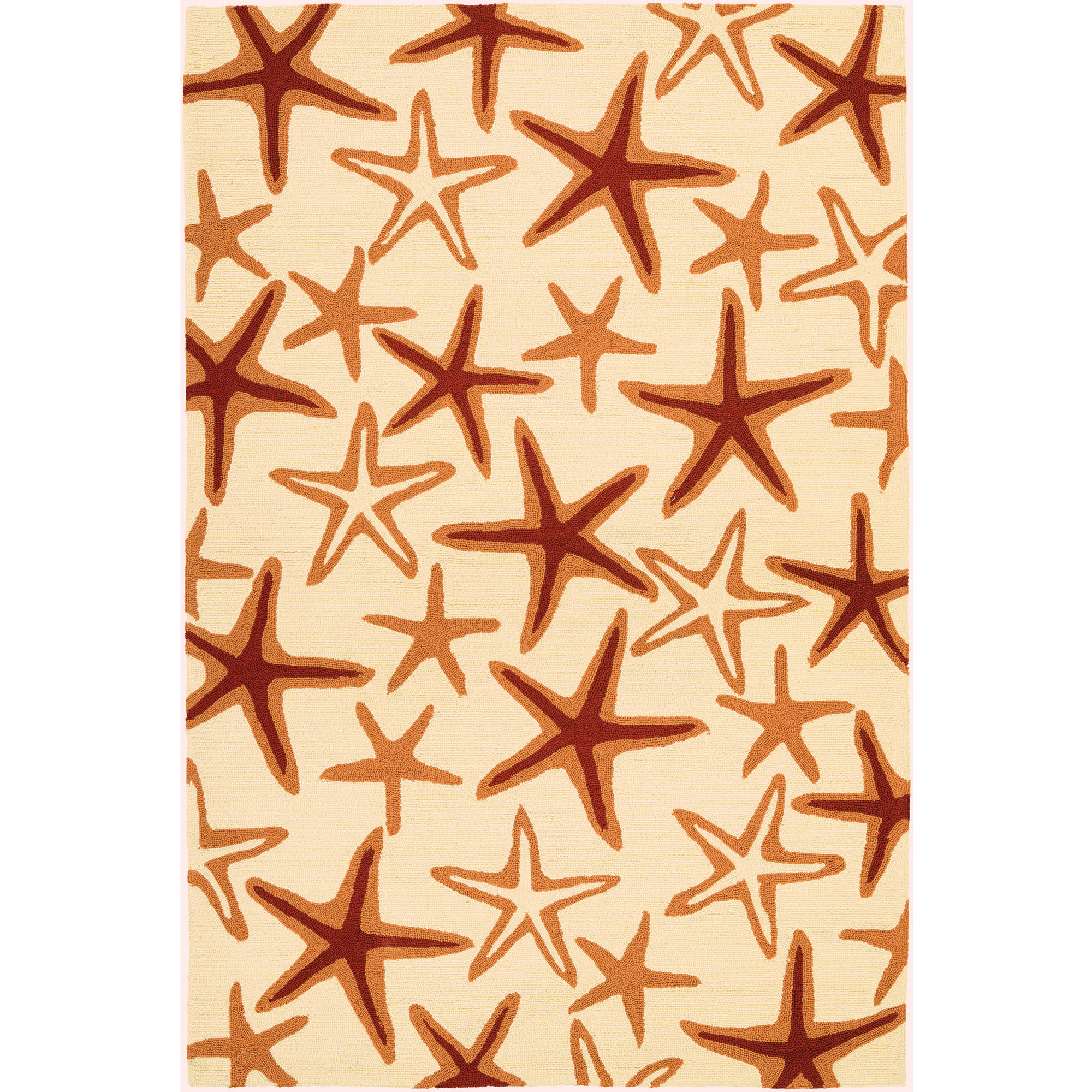 Couristan Beachfront Starfish/Ivory-Coral Rug