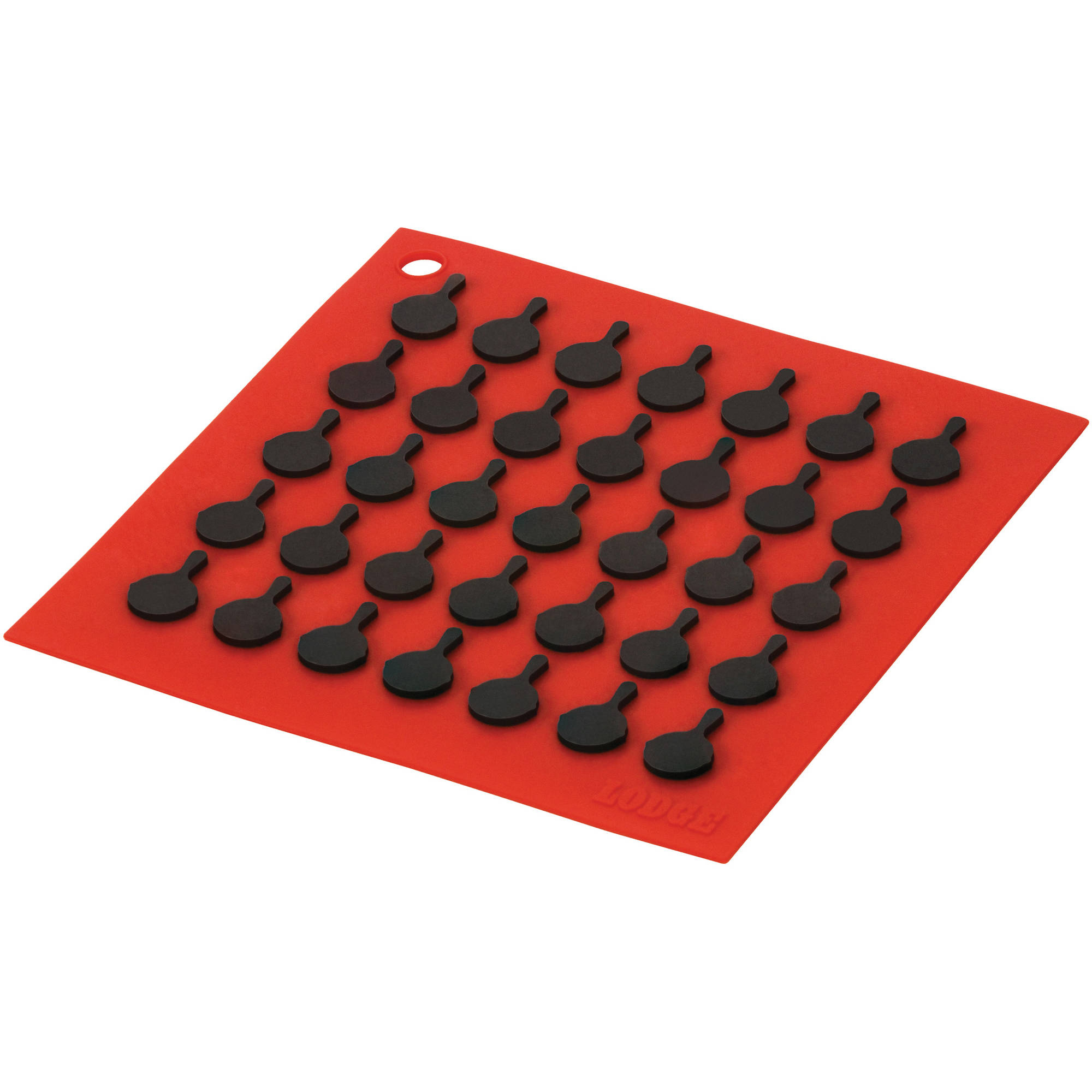 Lodge Silicone Trivet with Black Skillets