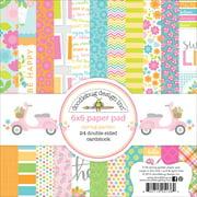 """Doodlebug Double-Sided Paper Pad 6""""X6"""" 24/Pkg-Spring Garden, Pk 3, Doodlebug"""