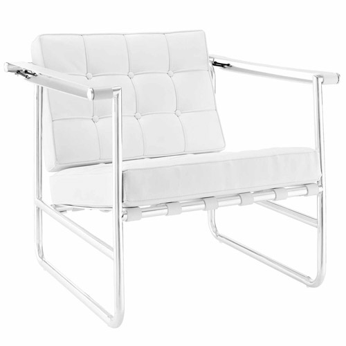 Modway Serene Stainless Steel Lounge Chair, Multiple Colors by Modway
