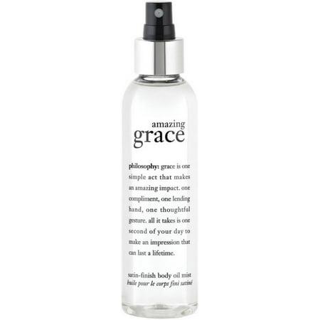 2 Pack - Philosophy  Amazing Grace Satin-Finish Body Oil Mist 5.8 oz Satin Body Oil