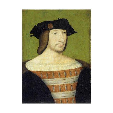 Portrait of Francis I, King of France, Aged Twenty by School of Francois Clouet Print Wall Art ()