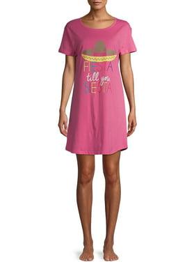 Peace, Love & Dreams Women's Short Sleeve Pajama Sleep Shirt