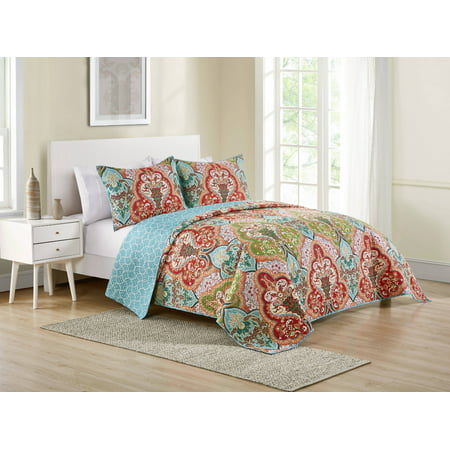 Better Homes & Gardens Reversible Jeweled Damask Full/Queen Quilt
