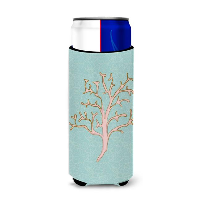 Carolines Treasures BB8583MUK Coral Michelob Ultra Hugger for slim cans - image 1 of 1