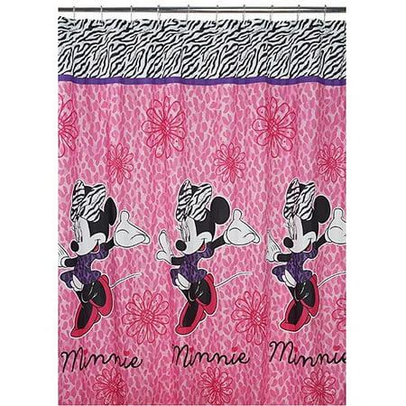 Disney Diva Minnie Fabric Shower Curtain - Disney Diva Minnie Fabric Shower Curtain - Walmart.com