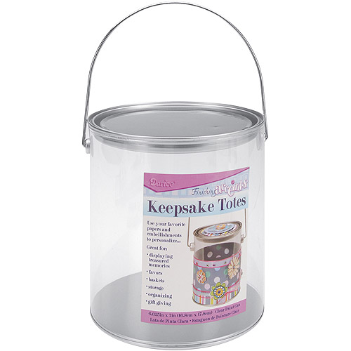 "Darice Keepsake Totes Clear Paint Can, 7-1/8"" x 6-5/8"""