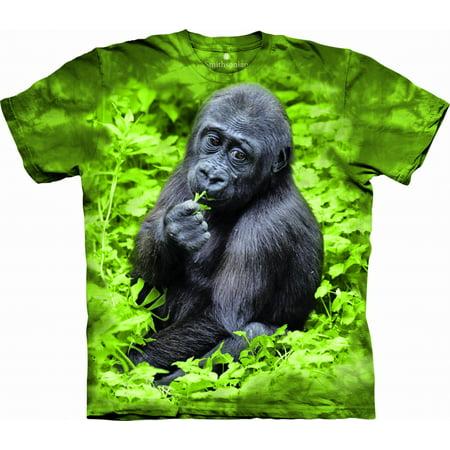 Kojo Western Lowland Gorilla T-shirt The Mountain Green Kids Unisex 100% Cotton Short Sleeve](Kids Western Wear)