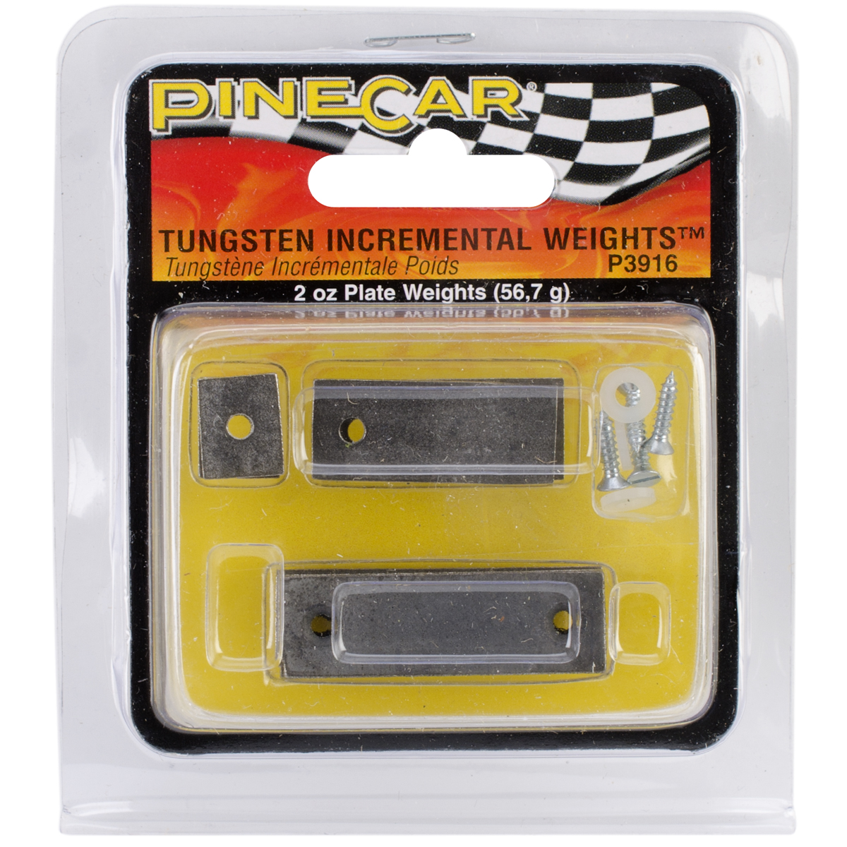 Pine Car Derby Weights 2 Ounces-Tungsten Incremental Plate