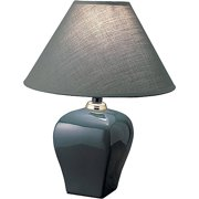 ORE International Urn-Shaped Table Lamp, Green
