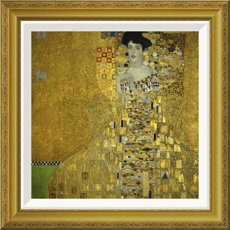 Global Gallery 'Portrait Of Adele Bloch Bauer I 1907' by Gustav Klimt Framed Painting (Adele Bloch Bauer Gustav Klimt)
