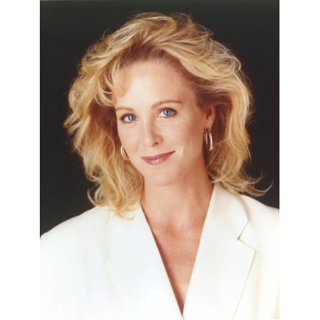 Joanna Kerns wearing a White Coat Dress in a Close Up Portrait Print Wall Art By Movie Star News