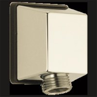 Polished Nickel Square Wall Elbow for Hand Shower