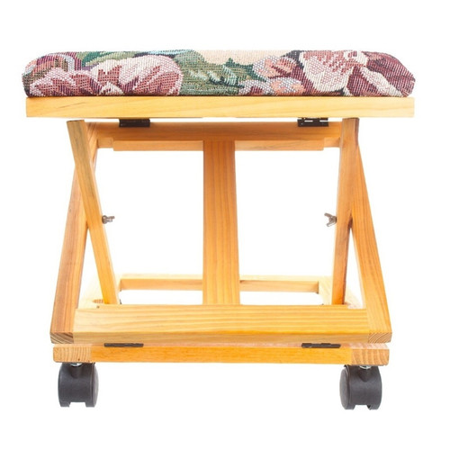 Imperial Home Adjustable Foot Stool Floral Tapestry Footrest