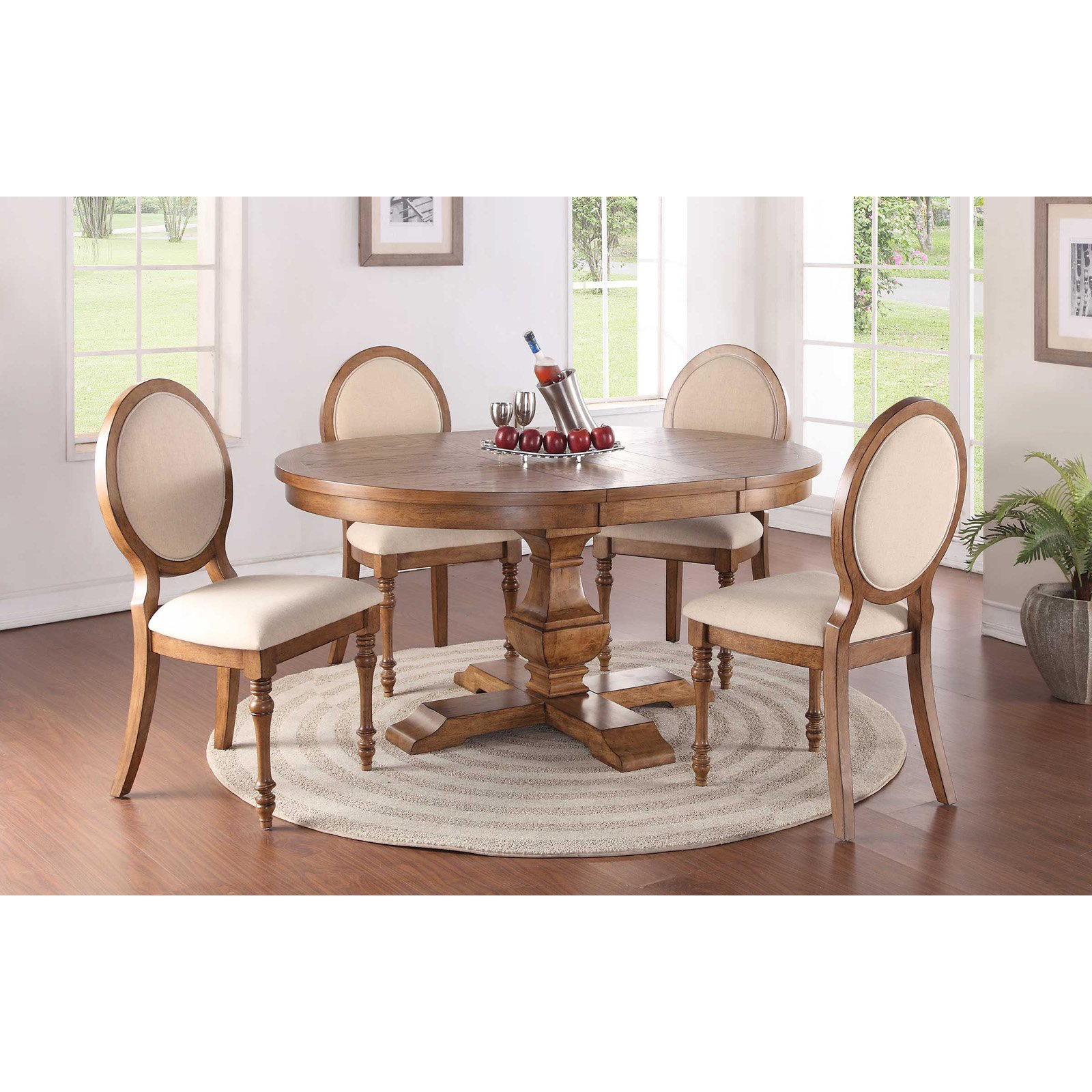 Winners Only Pedestal Dining Table with 18 in. Butterfly Leaf