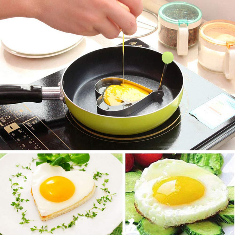 Silicone Egg Mold Pan-Fried Frying Egg Poach Rings Mould Cooking Tool Kitchen