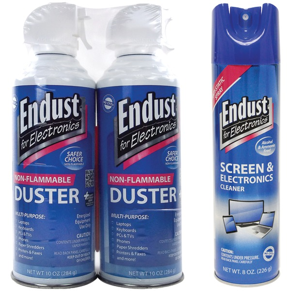 Endust 8oz. Anti-static Screen And Electronics Cleaner - 8 Fl Oz - Anti-static, Alcohol-free, Ammonia-free, Streak-freeaerosol Spray Can (nozmsdustkit)