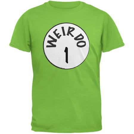 Halloween Weirdo 1 One Lime Green Adult T-Shirt](Green Day Halloween Song)