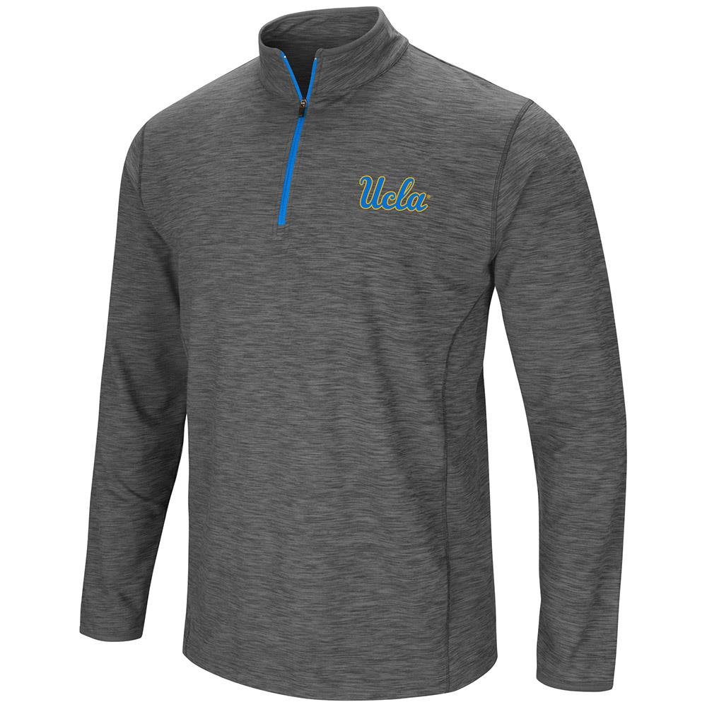 Mens UCLA Bruins Action Pass Long Sleeve Quarter Zip Wind Shirt