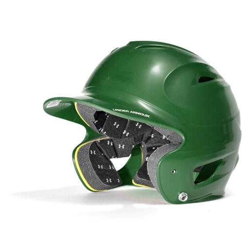 Under Armour Adult Solid One Size Fits All Batters Helmet UABH-100 Dark Green