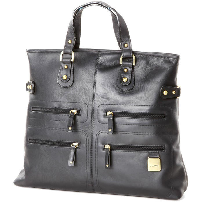 Clava Leather Zip Tote/Shoulder Bag