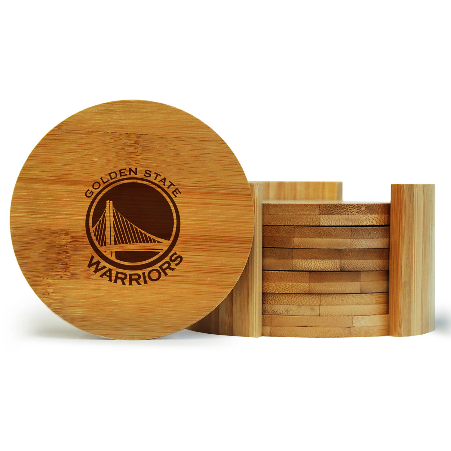 NBA Team Logo 6-Piece Bamboo Coaster Set